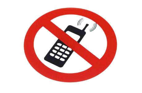 obrázek 'zákaz mobilu'