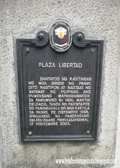 Plaza Libertad Historical Marker