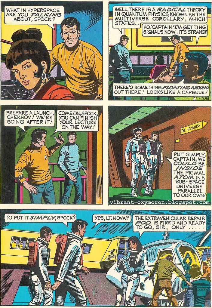 star trek comic scan spock kirk uhura scotty dynabrite whitman vintage