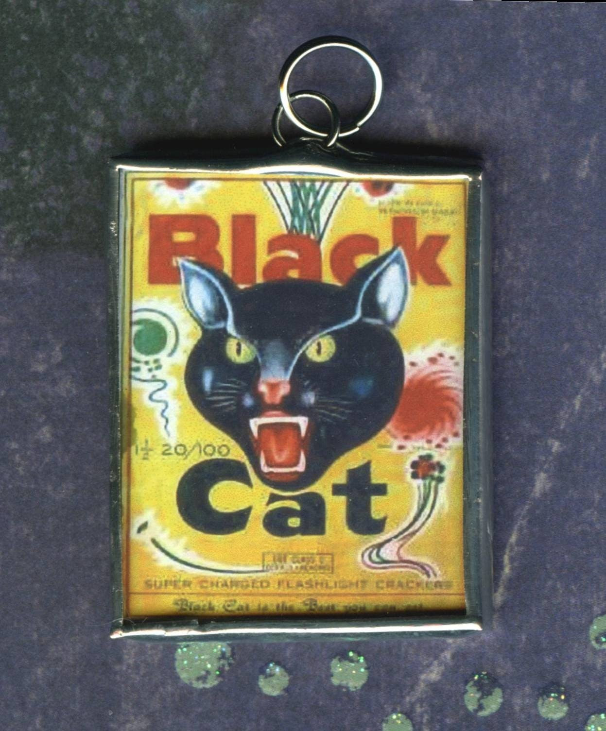 Black Cat Fireworks July 4th Pendant