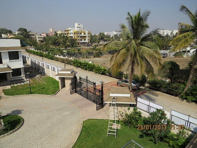 Entrance road & Main Gate of Gated Community of 3 BHK Bungalows at Green City Handewadi Road Hadapsar Pune 411028