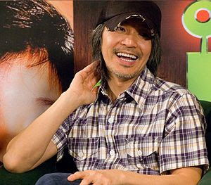Stephen Chow at a press conference in Kuala Lu...