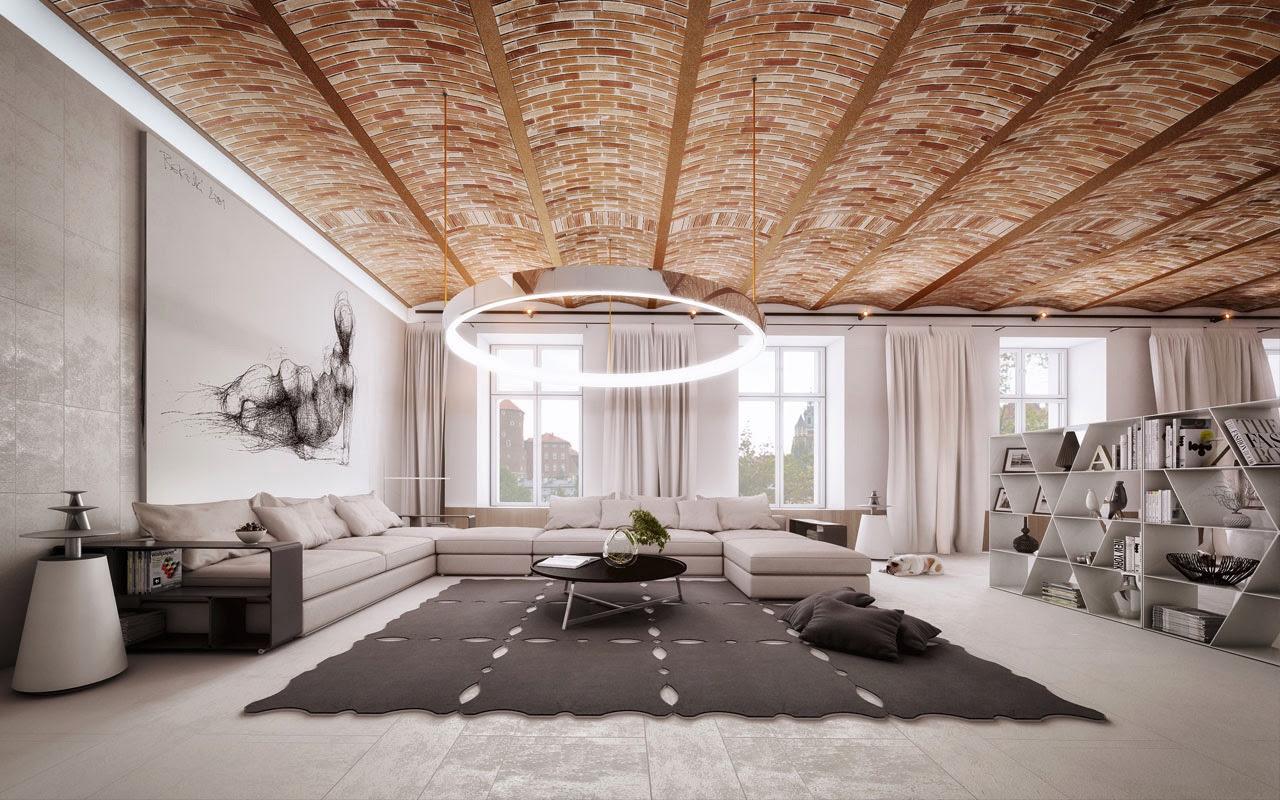 modern ceiling design for living room 2016