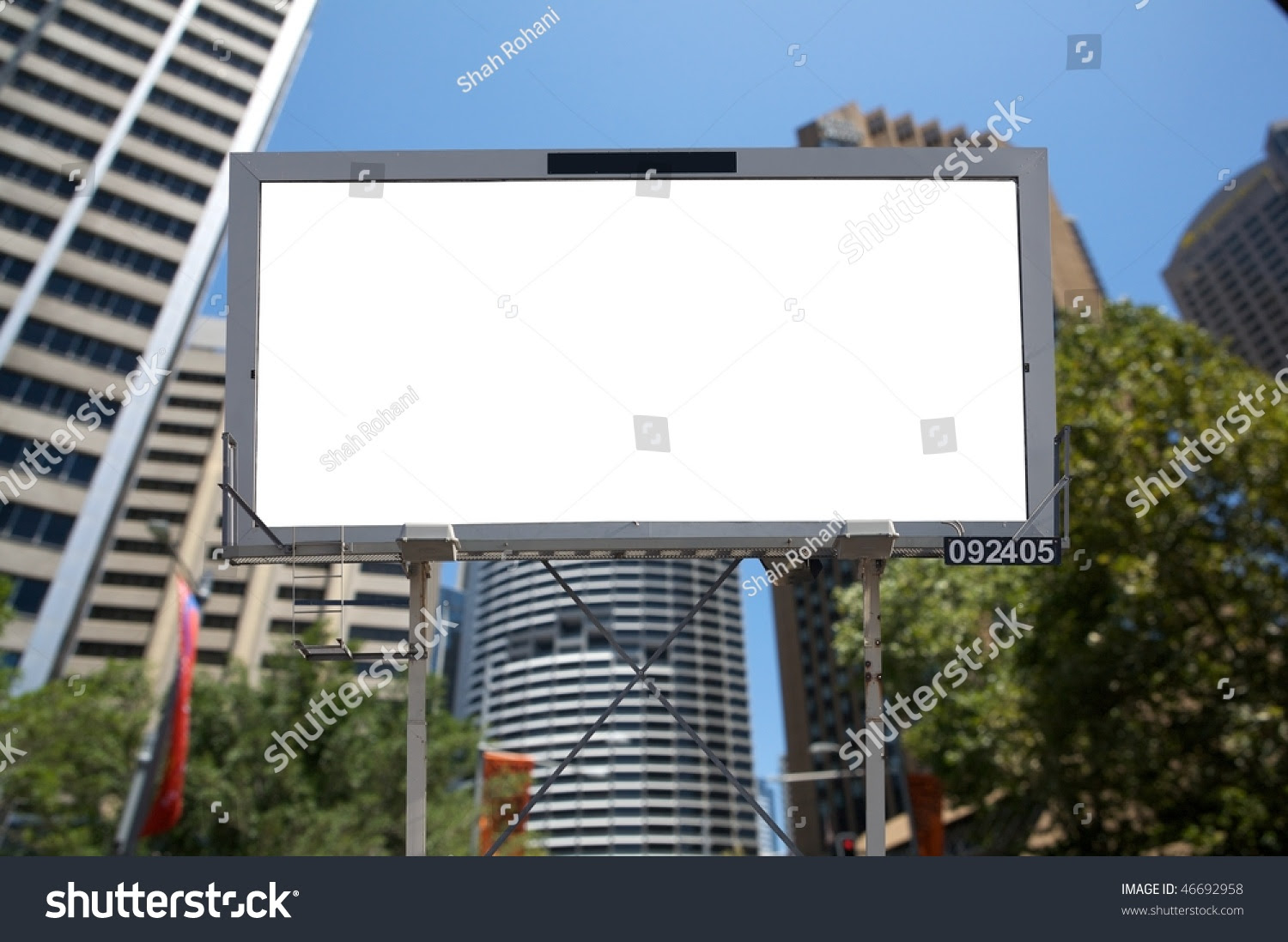Blank Commercial Billboard City Building On Stock Photo 46692958 ...