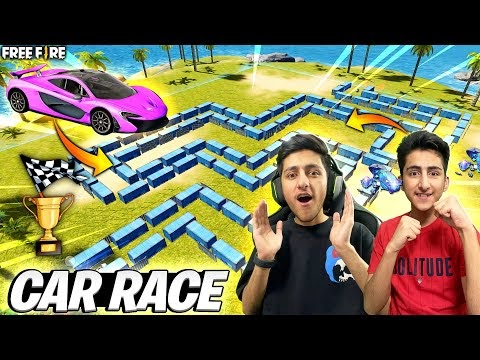 Car Race In Free Fire 😂 Craftland Map Crazy Challenge 30,000 Diamonds 💎 - Garena Free Fire