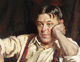 Painting of H.L. Mencken