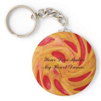 Heart Dance Love Keychain_Romantic Valentine Gifts keychain