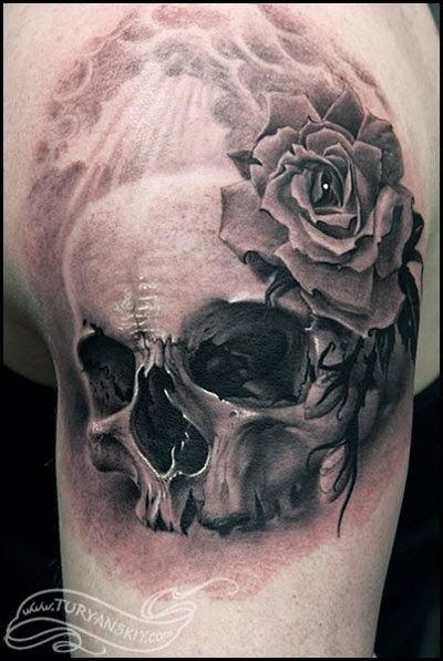 Skull And Rose Tattoo Tattoo Love