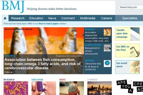 Página web de la revista médica británica