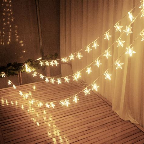 fairy string star light lamp wedding xmas party outdoor
