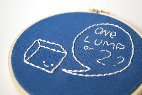 sugar cube embroidery