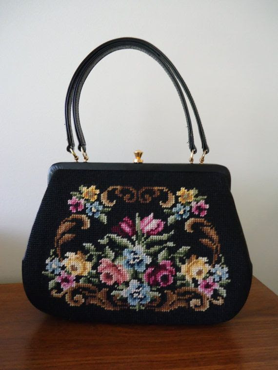 60s  Needlepoint purse