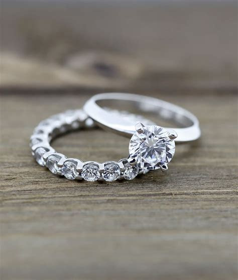 Tiffany Knife Edge Engagement Ring and Oasis Eternity Band