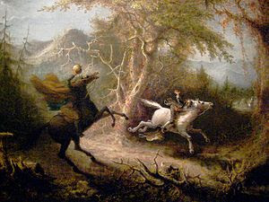 The Headless Horseman Pursuing Ichabod Crane (...