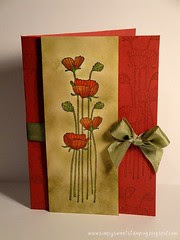 Long stem flowers Sympathy Card