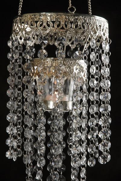 Crystal Candle Holder Chandelier 24in