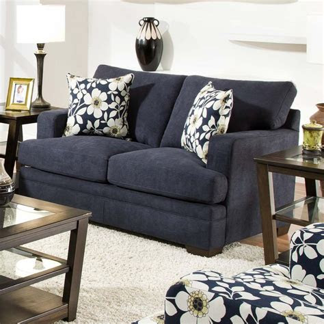 transitional love seat  track arms   stylish