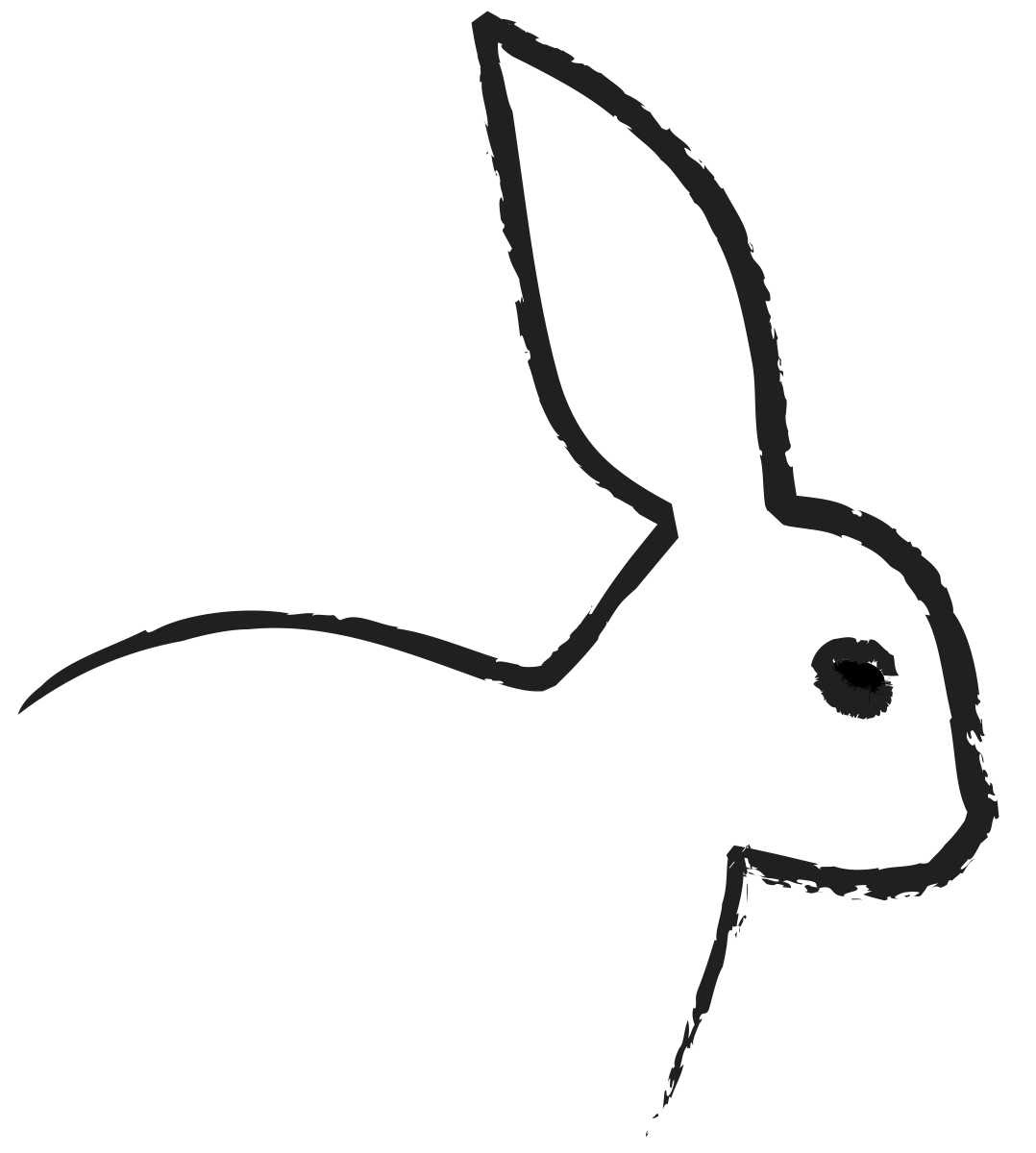 Free Outline Of A Bunny, Download Free Clip Art, Free Clip ...