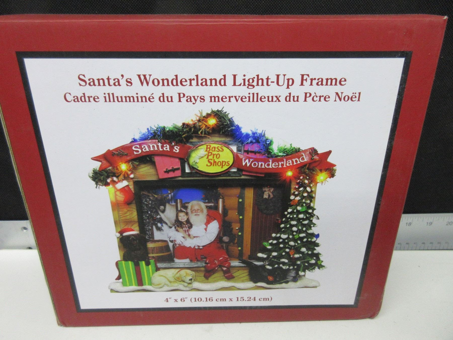 Santas Wonderland Light Up Picture Frame 4 X 6 Picture