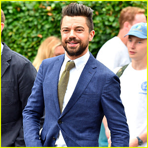 Dominic Cooper Suits Up for First Day of Wimbledon!