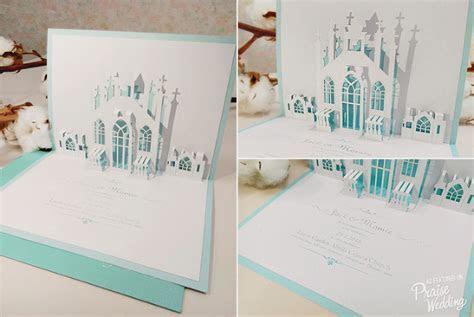 Love pops! Loving this handmade 3D chapel invitation card