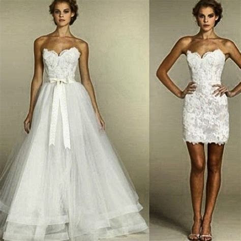 25  best ideas about Convertible wedding dresses on