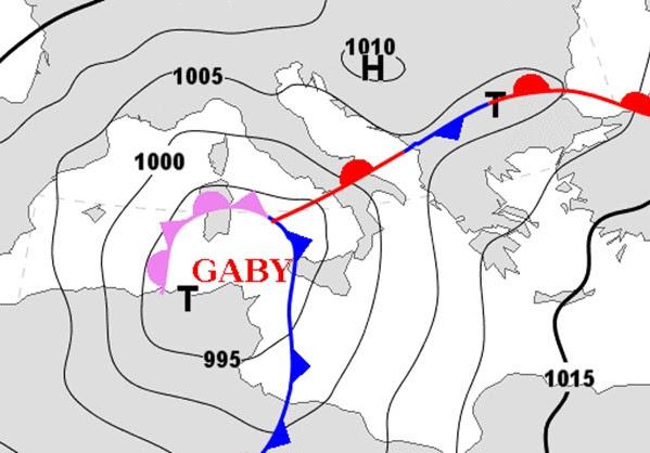 """ΕΚΤΑΚΤΟ: Ο κυκλώνας """"Gaby"""" θα χτυπήσει τη Μεσόγειο και τα Βαλκάνια"""