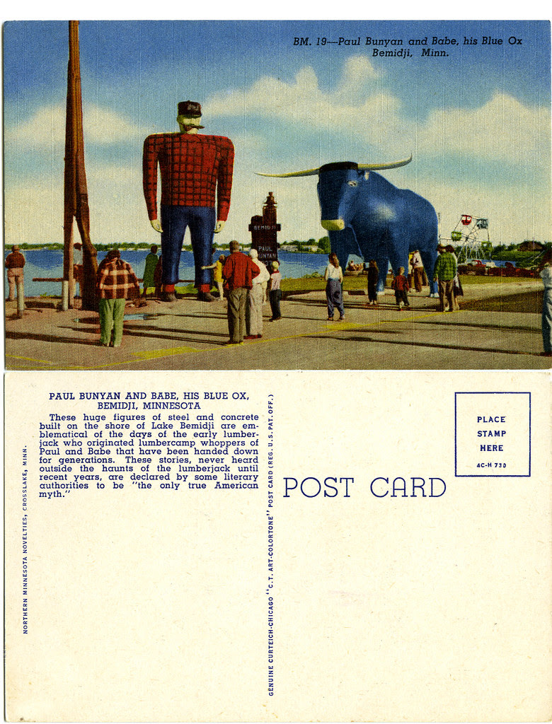 Paul Bunyan and Babe_tatteredandlost