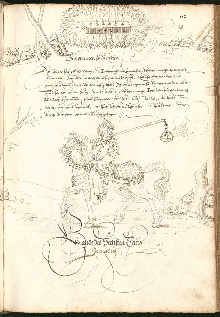 Early Modern manuscript warfare drawing -  Artilleriebuch 1582 BSB g