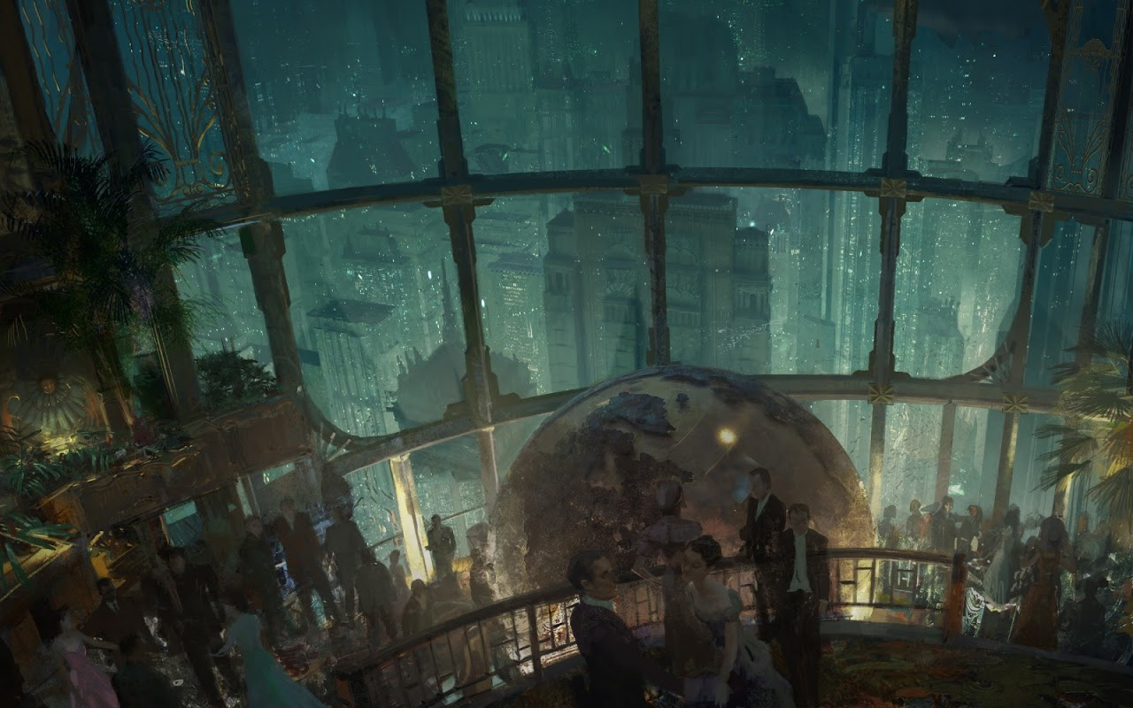 Craig Mullins' cover art for Bioshock: Rapture by John Shirley