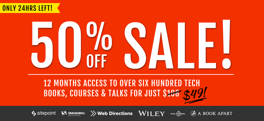 EOFY 50% off sale on now