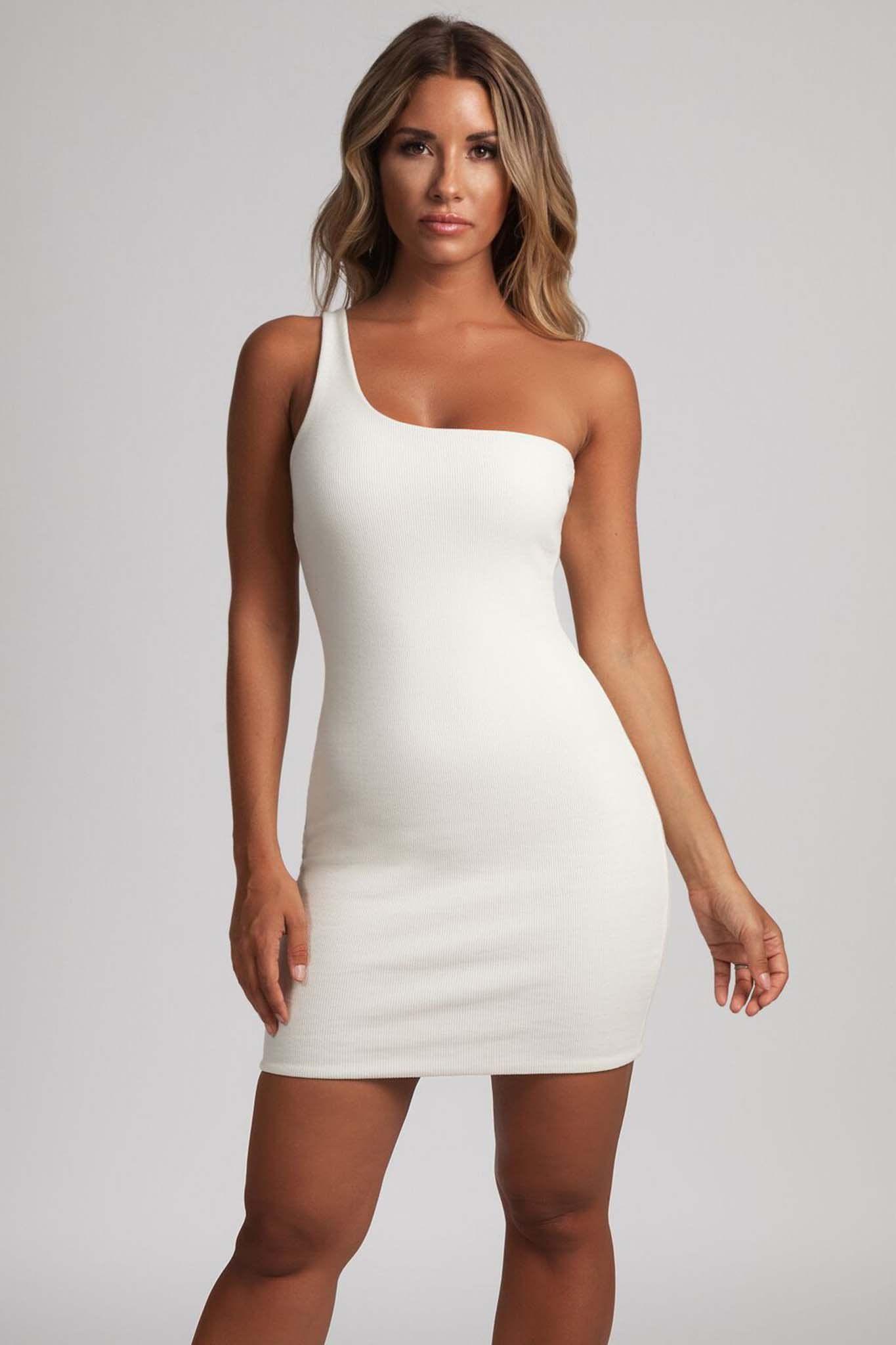 One shoulder mini bodycon dress two piece kim