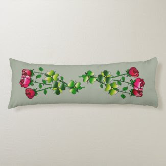 Dozen Roses Design on Pillow (6 each side)