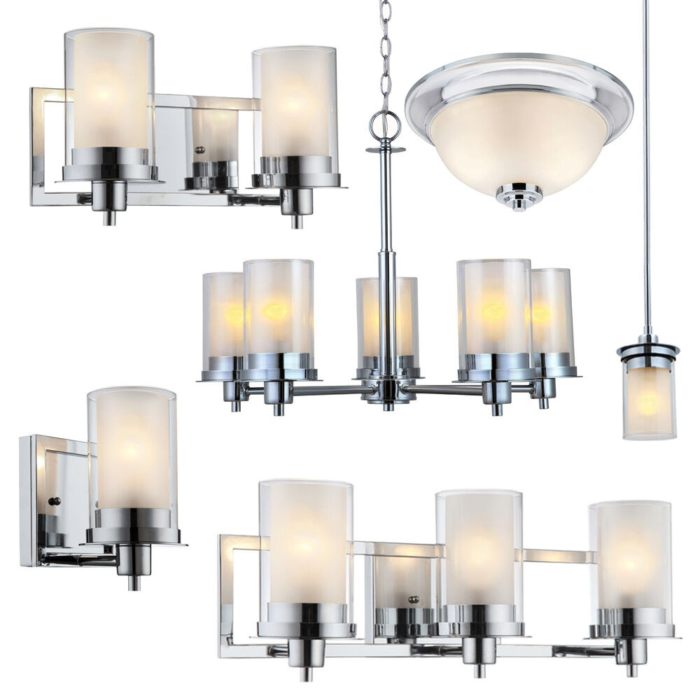 Avalon Polished Chrome Bathroom Vanity, Ceiling Lights ...