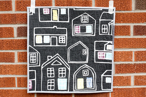 Gray Mini Quilt by jenib320