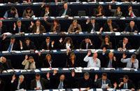 Votación en el  Parlamento Europeo. Foto: AP