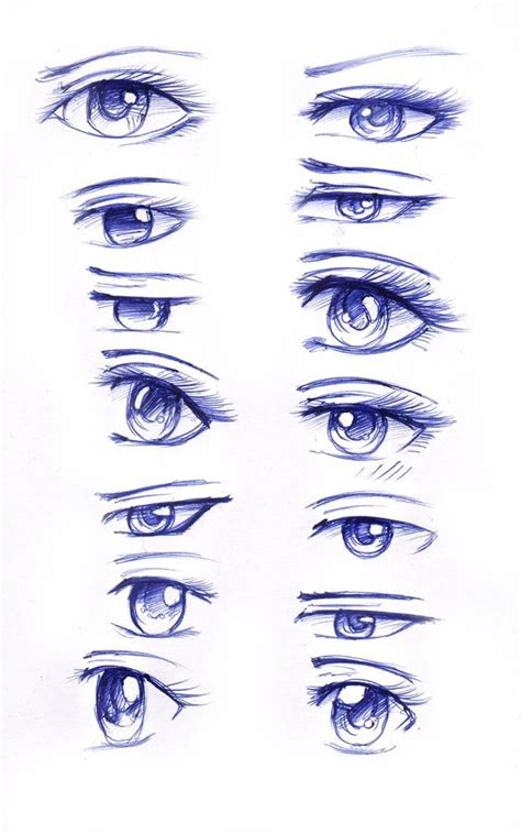 anime eye practice  tajii chan  deviantart sketch