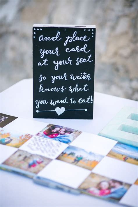 Use your escort cards to mark guests' meal choices