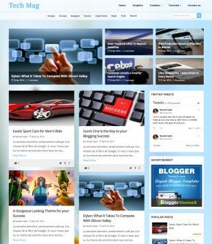 Tech Mag Blogger Templates