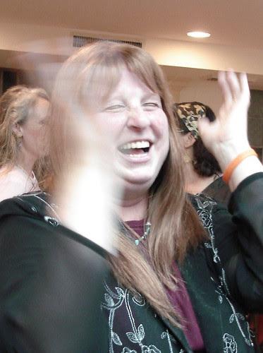 RivkA at her son's bar mitzvah