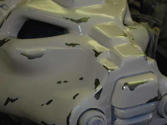 SM Terminator Helmet Mustard Masking Removed