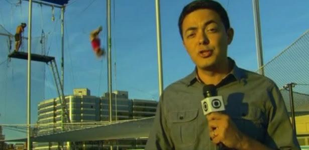 Polícia americana interrompe link e expulsa equipe da Globo