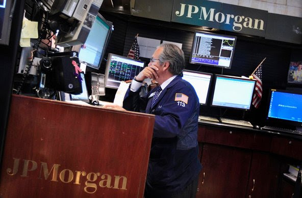 At the New York Stock Exchange. The S.E.C. is investigating JPMorgan's multibillion-dollar trading loss last year.
