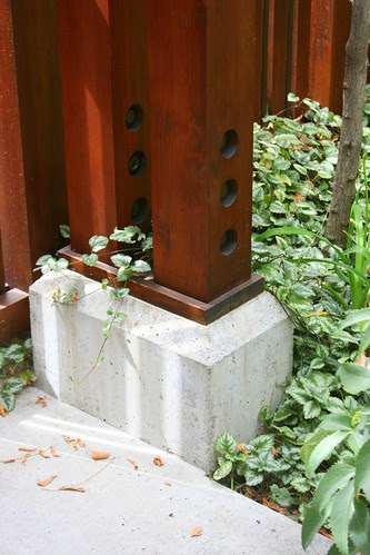copper gate post footing