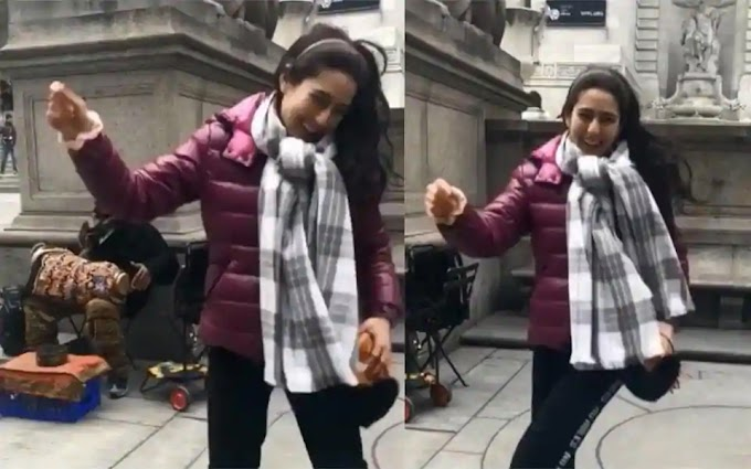Sara Ali Khan shares happy memory of her impromptu dance on a New York street.
