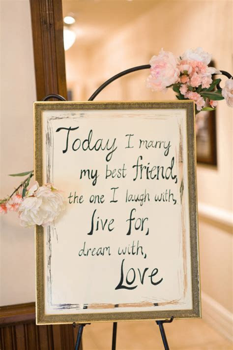 14 Beautiful Wedding Ceremony Sign Ideas   weddingsonline