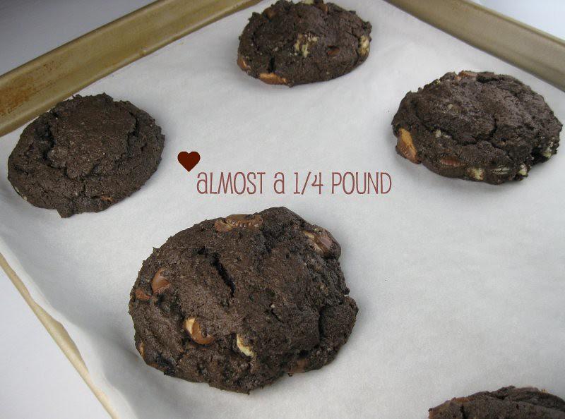 choco pb and shortbread chunk cookies