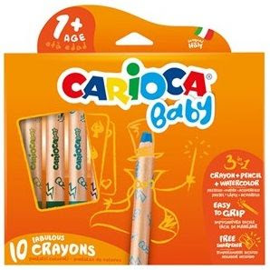Carioca 3 In 1 Jumbo Bebek Ahşap Gövdeli Boya Kalemi 10lu 3 In 1