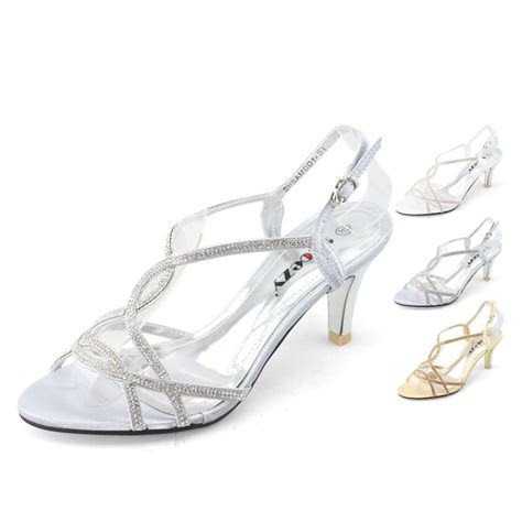 womens low heels shoes satin silver white gold wedding