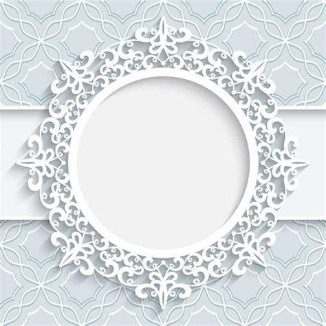 Lace ornament paper frame vector 01    Etiket   Etiqu